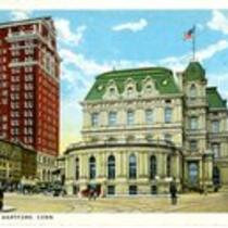 Post office and Central Row, Hartford