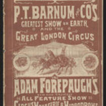 Booklet: In Grand Combination P.T. Barnum and Co's Greatest Show on Earth and the Great London Circus and Adam Forepaugh's...