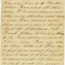 Letter of Joseph Cross, Undated, Fragment 1