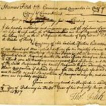 Order from Governor Thomas Fitch, 1757 February 19