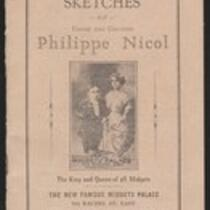 Booklet: Biographical sketches of Count and Countess Philippe Nicol