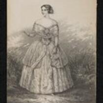 Lithograph: First Lessons from the Nightingale featuring Jenny Lind