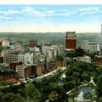 General view from State Capitol, Hartford, Conn