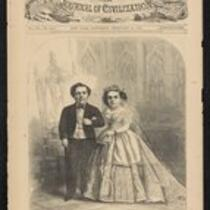 Newspaper: Cover and article from Harper's Weekly for February 21, 1863, featuring the Fairy Wedding