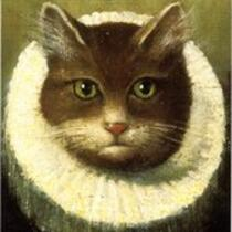 Cat in a Ruff painting, Mark Twain House, Hartford