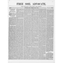 Free soil advocate, 1848