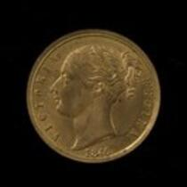 Physical object: Souvenir token with Queen Victoria and Charles S. Stratton