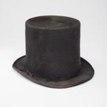 Textile: Miniature top hat belonging to Charles S. Stratton