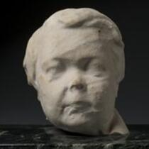 Physical object: Sculpture of Charles S. Stratton's head from a cemetery monument