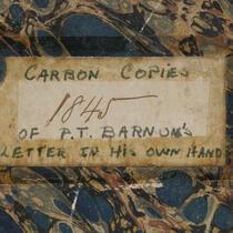 Manuscripts - The Barnum Museum