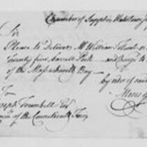 Correspondence with Moses Gill, Elisha Phelps, George Wyllys and others, 1775 July