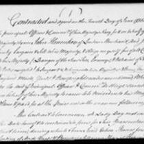 Silas Deane Papers: Business and Legal: Contracts for masts with British government, 1755