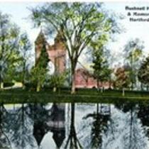 Bushnell park pond & Memorial Arch, Hartford, Conn.