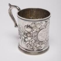 Physical object: Silver christening cup for Frances B. Thompson, granddaughter of P.T. Barnum