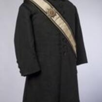 Textile: Masonic uniform jacket and accessories belonging to Charles S. Stratton