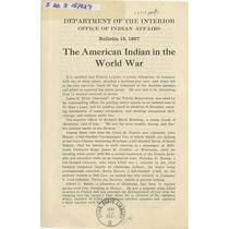 American Indian in the World War