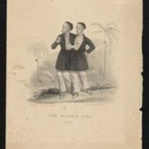 Lithograph: Chang and Eng, aged 18