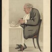 Caricature: P.T. Barnum by Leslie Ward for Vanity Fair (owned by the Bridgeport History Center)