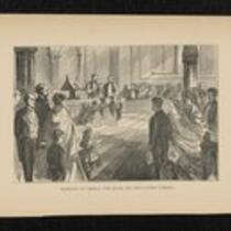 Illustration: Marriage of General Tom Thumb and Miss Lavinia Warren taken from Struggles and Triumphs