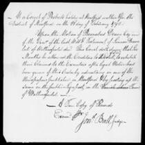 Silas Deane Papers: Barnabas Deane: Copies of estate documents, 1792 February 22