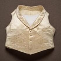 Textile: Wedding vest belonging to Charles S. Stratton