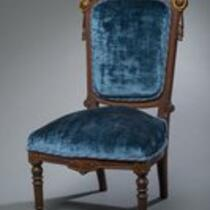 Furniture: Chair in the Renaissance Revival style, belonging to Charles S. Stratton