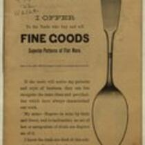 Superior patterns of flat ware (Simpson, Hall & Miller Co.)