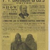 Courier: P.T. Barnum and Co...Newburyport July 18, 1887
