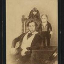 Photograph: Charles S. Stratton and unidentified man, probably his father