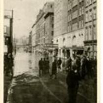 Asylum Street and Hotel Bond, Hartford, flood, 1936