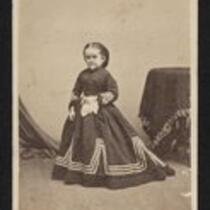 Photograph: Full length portrait of Minnie Warren