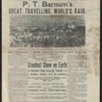 Courier: P.T. Barnum's Great Traveling World's Fair for Boston, Mass., May 12, 1873