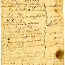 French and Indian War Collection: Accounts and receipts, 1755 (Box 2 Folder 2)