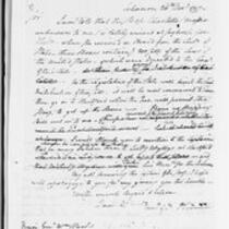 Jonathan Trumbull, Jr. correspondence with federal government, 1797-1799