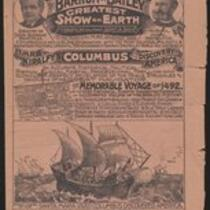 Courier : The Barnum and Bailey Greatest Show on Earth, Imre Kiralfy's Columbus and the Discovery of America 1887; 1892;1892