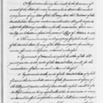 Jonathan Trumbull Jr. correspondence from Henry Knox, 1793
