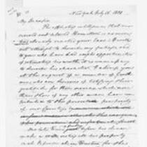 Oliver Wolcott, Jr. Papers: Letters and documents concerning Alexander Hamilton, July 1804