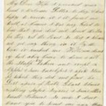 Letter of Joseph Cross 1865 March 06