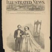 Newspaper: Cover illustration of New York Illustrated, featuring the Fairy Wedding, February 21, 1863