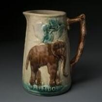 Physical object: Pitcher with Jumbo the elephant