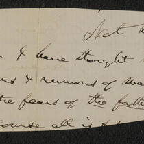 Letter: Paper scrap signed by P.T. Barnum underneath additional script