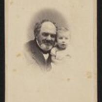 Photograph: Bearded P.T. Barnum with grandchild