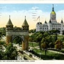 State Capitol and Memorial Arch, Hartford, Conn.