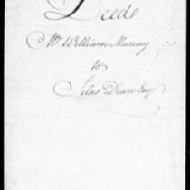 Silas Deane Papers: Business and Legal: Deeds: 1765 (Colchester), 1779 (Ohio); copy contract for building 3 story brick house