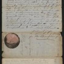 Document: Deed, David W. and Caroline C. Thompson to Charity Barnum, 1860